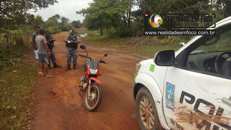 Assaltante toma moto em José de Freitas e tenta matar o proprietário com tiros na cabeça