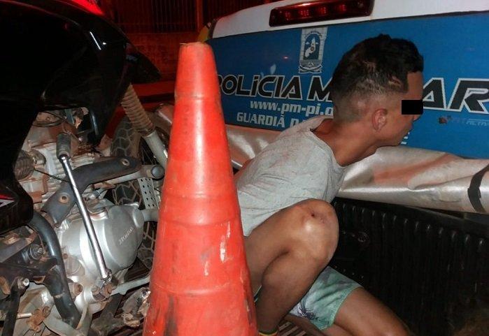 Menor é apreendido em José de Freitas após tomar veículo de assalto em Lagoa Alegre