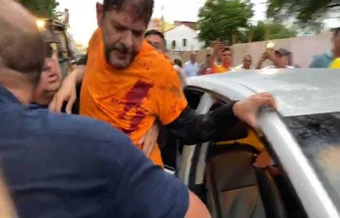 Senador Cid Gomes é baleado durante manifestação em Sobral