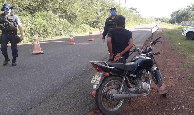 Indivíduo é preso em José de Freitas pela Guarda Municipal com veículo furtado