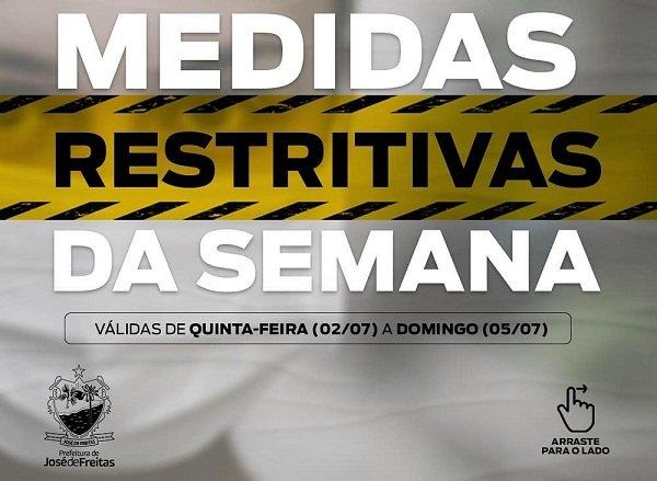 Novo decreto determina quais serviços podem funcionar de quinta até domingo em José de Freitas; veja!