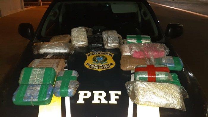 PRF apreende drogas escondidas em veículo avaliadas em R$ 600 mil