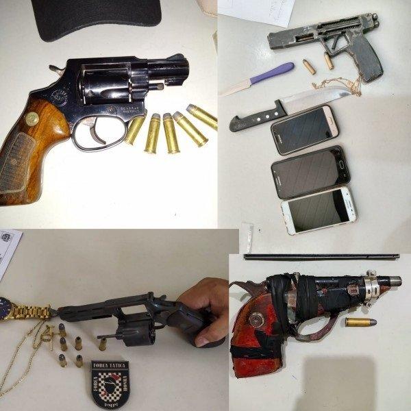 11 armas de fogo são apreendidas pela Polícia Militar no Piauí