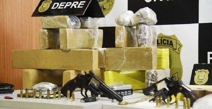 Depre estoura refinaria de drogas em Teresina e prende 5 pessoas, incluindo taxista
